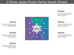 6 Pieces Jigsaw Puzzle Having Square Shaped