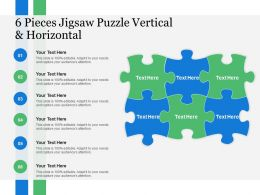 6 Pieces Jigsaw Puzzle Vertical And Horizontal