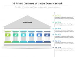 6 Pillars Diagram Of Smart Data Network Infographic Template