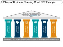 6_pillars_of_business_planning_good_ppt_example_Slide01