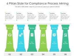 6 Pillars Slide For Compliance Process Mining Infographic Template