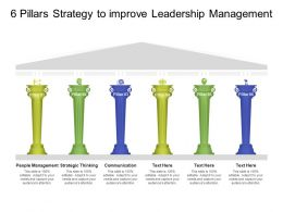 6 Pillars Strategy To Improve Leadership Management