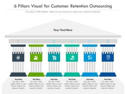 6 Pillars Visual For Customer Retention Outsourcing Infographic Template