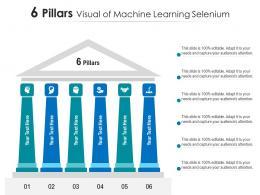 6 Pillars Visual Of Machine Learning Selenium Infographic Template