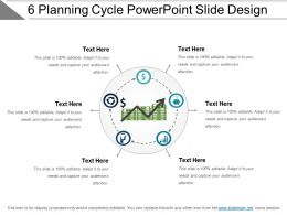 6 Planning Cycle Powerpoint Slide Design