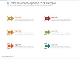 6 Point Business Agenda Ppt Sample