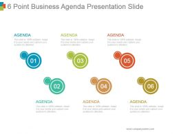 6 Point Business Agenda Presentation Slide Powerpoint Images