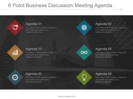6 Point Business Discussion Meeting Agenda Powerpoint Slide Show