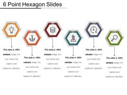6 Point Hexagon Slides Example Of Ppt Presentation
