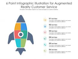 6 Point Illustration For Augmented Reality Customer Service Infographic Template