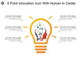 6 Point Innovation Icon With Human In Center