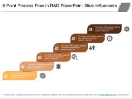 6 Point Process Flow In R And D Powerpoint Slide Influencers
