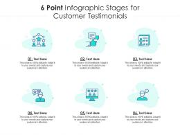 6 Point Stages For Customer Testimonials Infographic Template