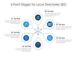 6 Point Stages For Local Directories SEO Infographic Template