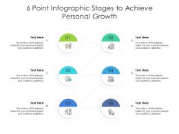 6 Point Stages To Achieve Personal Growth Infographic Template