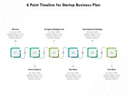 6 Point Timeline For Startup Business Plan