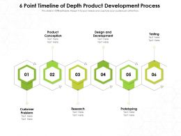 6 Point Timeline Of Depth Product Development Process