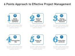 6 Points Approach To Effective Project Management