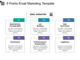 6 Points Email Marketing Template