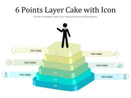 6 Points Layer Cake With Icon