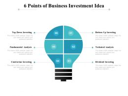 6 Points Of Business Investment Idea