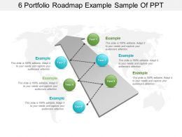 6 Portfolio Roadmap Example Sample Of Ppt