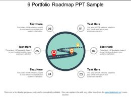 6 Portfolio Roadmap Ppt Sample
