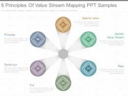 6 Principles Of Value Stream Mapping Ppt Samples