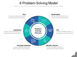 6 Problem Solving Model Powerpoint Shapes
