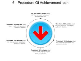 6 Procedure Of Achievement Icon