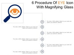6 Procedure Of Eye Icon With Magnifying Glass