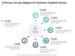 6 Process Circular Diagram For Customer Feedback Quotes Infographic Template