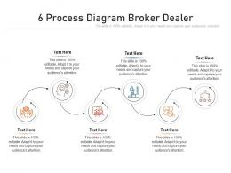 6 Process Diagram Broker Dealer Infographic Template