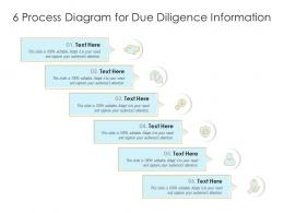 6 Process Diagram For Due Diligence Information Infographic Template