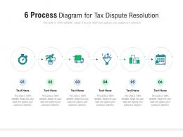 6 Process Diagram For Tax Dispute Resolution Infographic Template