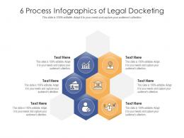 6 Process Infographics Of Legal Docketing Template