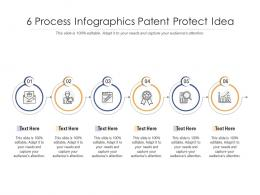 6 Process Infographics Patent Protect Idea Template