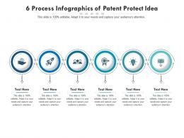 6 Process Of Patent Protect Idea Infographic Template