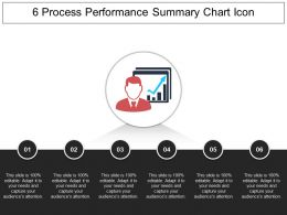 6 Process Performance Summary Chart Icon Powerpoint Show