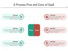 6 Process Pros And Cons Of SaaS Infographic Template
