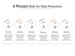 6 Process Slide For Data Protection Infographic Template