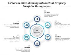 6 Process Slide Showing Intellectual Property Portfolio Management Infographic Template