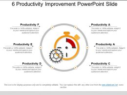 6 Productivity Improvement Powerpoint Slide