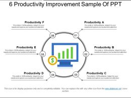 6 Productivity Improvement Sample Of Ppt