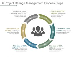 6 Project Change Management Process Steps Sample Of Ppt