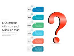 6 Questions With Icon And Question Mark