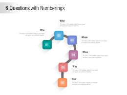 6 Questions With Numberings