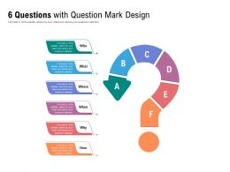 6 Questions With Question Mark Design