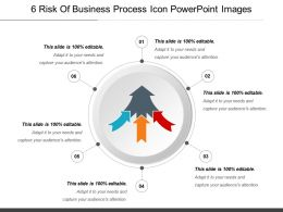 6 Risk Of Business Process Icon Powerpoint Images