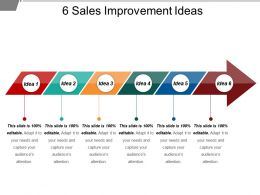 6 Sales Improvement Ideas Powerpoint Show